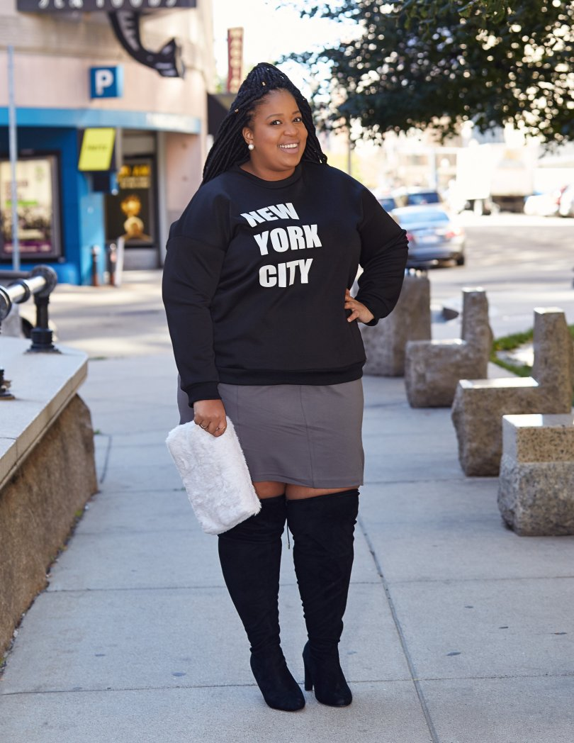 Plus Size Blogger wearing Simply Be
