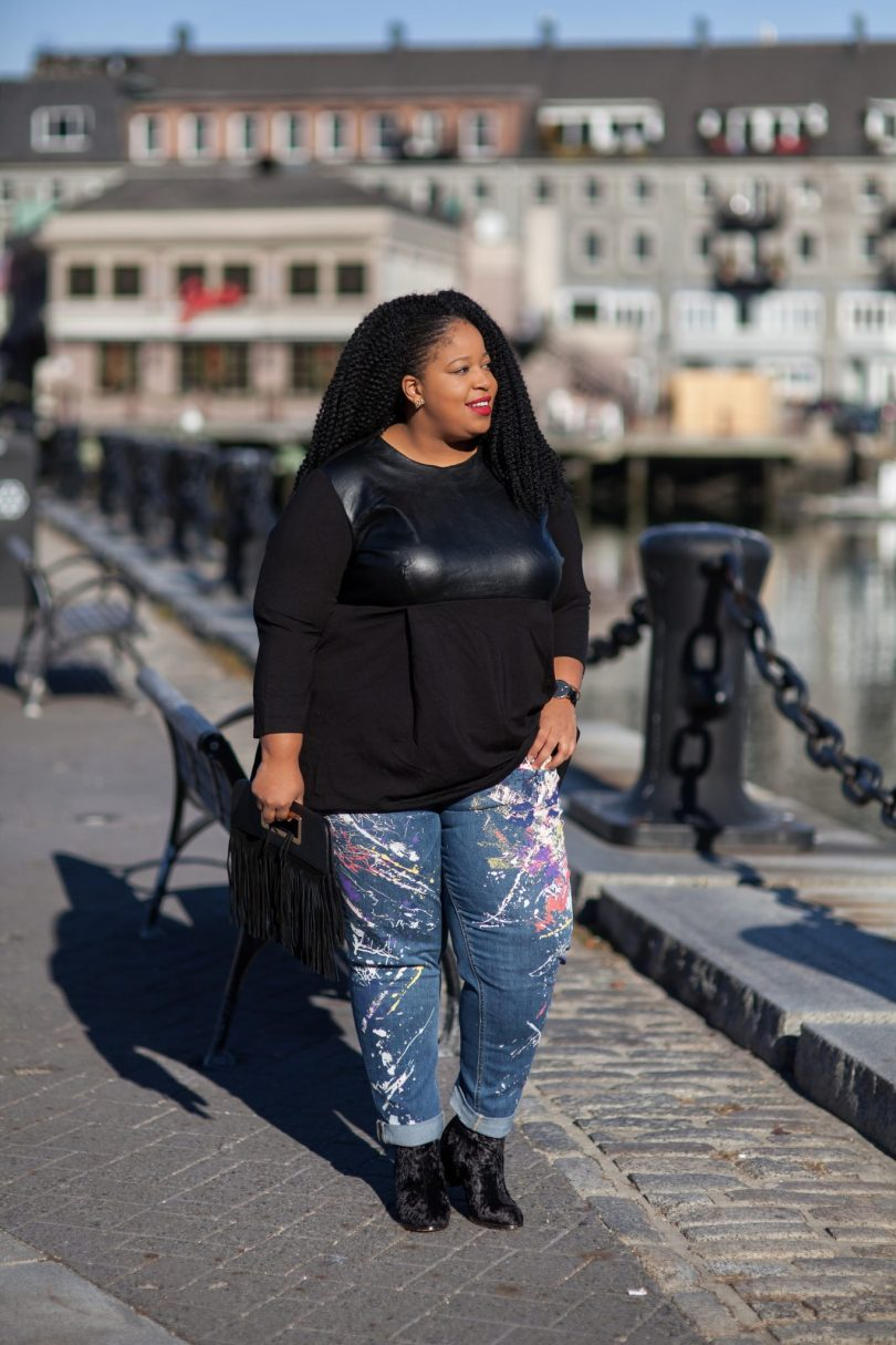 Plus Size Blogger wearing Melissa McCarthy Seven 7