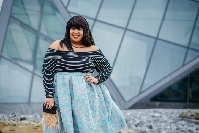Plus Size Scuba Skirt