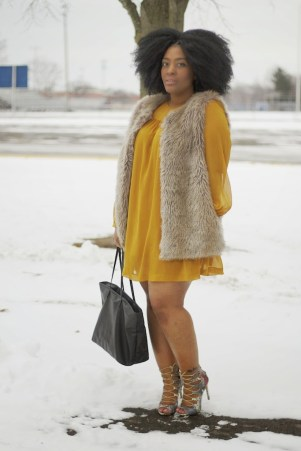 FAUX-FUR-VEST-SWING-DRESS-BOOTIES-ZARA-CALVIN-KLEIN-HM-HOW-TO-STYLE