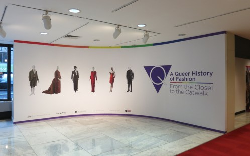 Entrance to A Queer History of Fashion Exhibition.