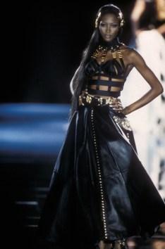 Gianni Versace, leather evening dress, Autumn/Winter 1992. Photo courtesy Fashion Group Foundation.