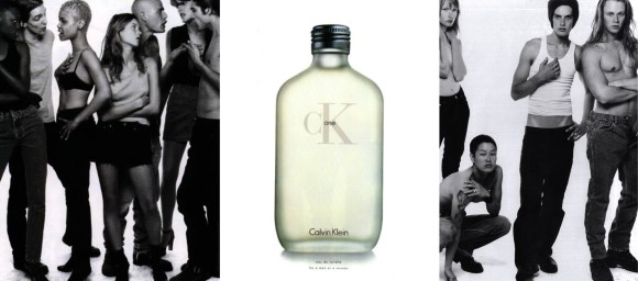 Calvin Klein CKone Campaign featuring Kate Moss and Jenny Shimizu