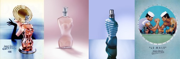 (left) Jean Paul Gaultier fragrance (now known as Classique) (right) Le Male fragrance