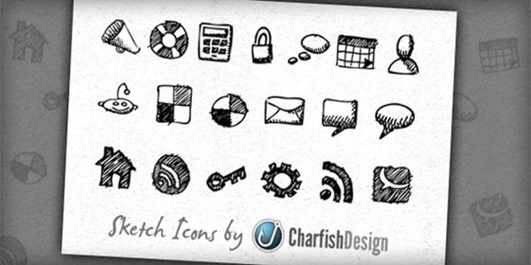 19 Free hand-drawn sketch icons