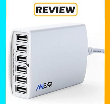 Anear 60W 6 Port Desktop USB Charging Hub