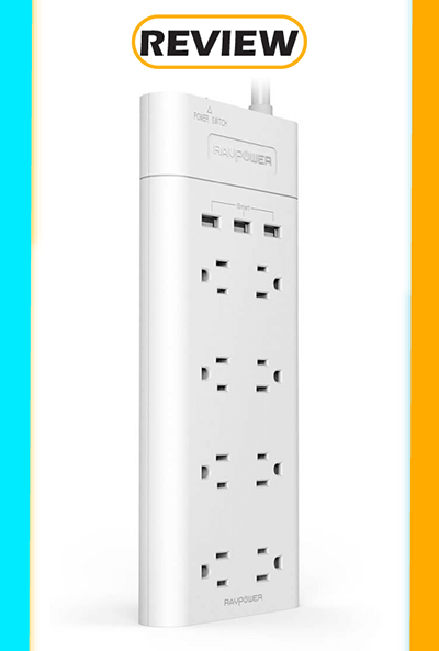 RAVPower Surge Protector with 3 iSmart USB Ports