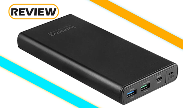 Lumsing 15,000mAh Power Bank with Quick Charge 3.0 and USB-C