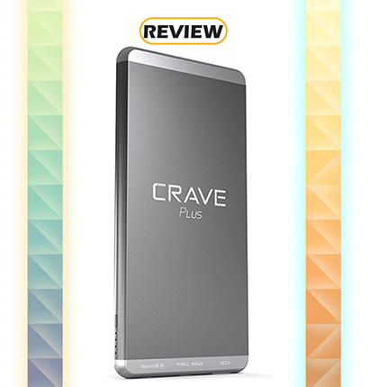 Crave PLUS 10,000mAh Slim Aluminum Power Bank with Quick Charge & Type C Review