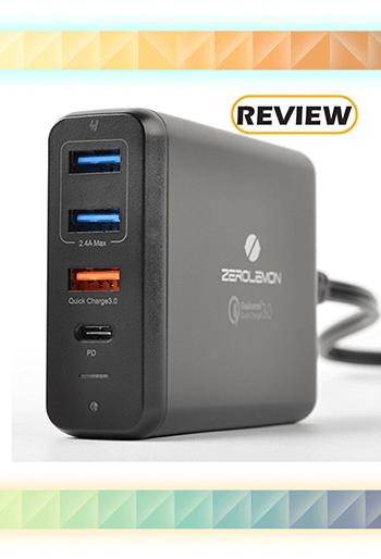 ZeroLemon 75W 4-Port USB-C Power Delivery Desktop Charger Review