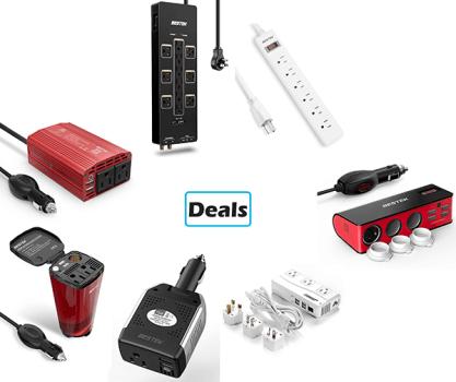 Deals: Bestek Power Inverters and Surge Protectors on Sale