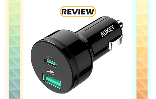 Aukey 27W USB-C Power Delivery Car Charger Review