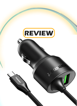Tronsmart 33W Car Charger with Built-in USB-C Charging Cable and Quick Charge Port Review