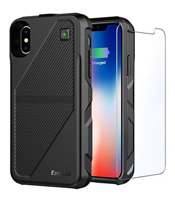 the latest b4acd 92ffb EasyAcc 5,000mAh Wireless Charging iPhone X Battery Case