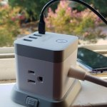 BESTEK Cube Power Strip with 3 Outlets and USB-C Port