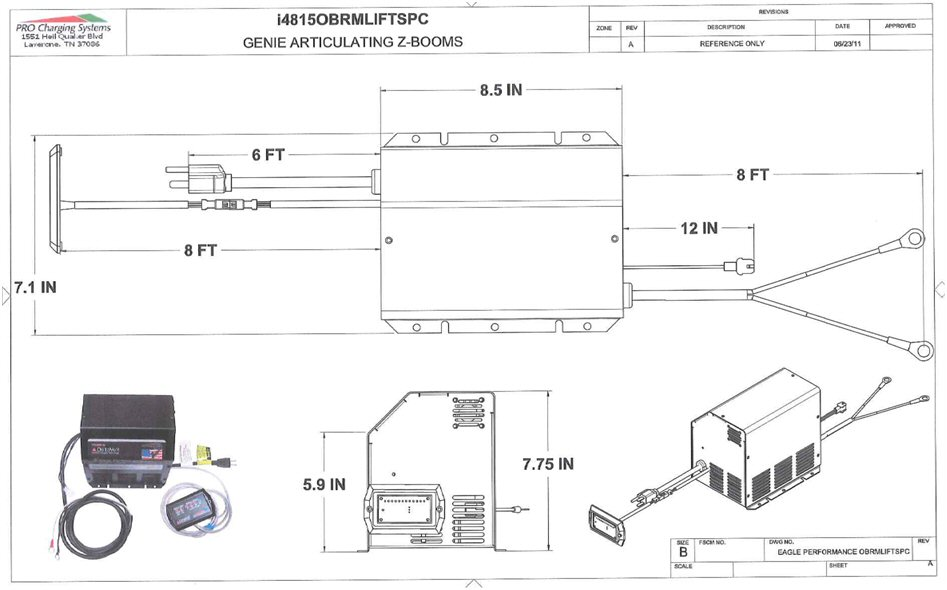 ez boom wiring diagram 2004 subaru outback exhaust system i4815obrmliftspc eagle performance z lift battery charger 48 4815obrmliftspc