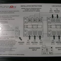 Rv Transfer Switch Wiring Diagram 3 Phase Motor Control Panel Powermax Pmts-50 | Chargingchargers.com