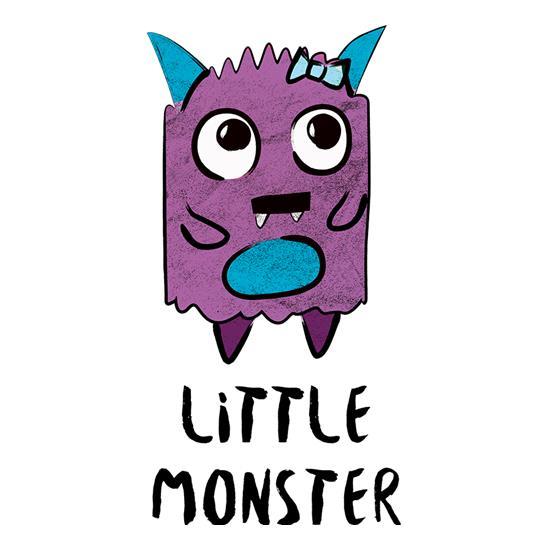 little girl monster mug