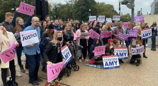 250 Christians from Across U.S. Gather In Front of Senate Building to Back Amy Coney Barrett During Hearings