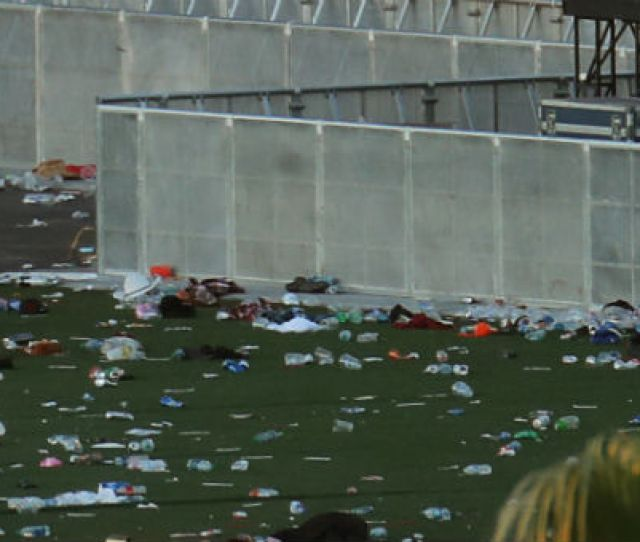 Personal Belongings Lay Tossed Aside On The Fairgrounds Following The Mass Shooing At The Route