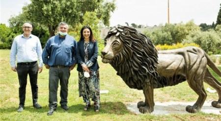 """Lion of Judah"" Sculpture Erected in Jerusalem as Symbol of Friendship Between Christians, Jews"