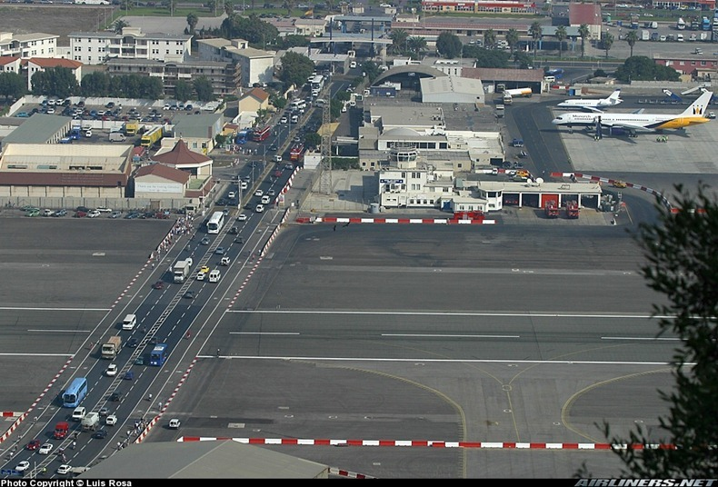 Gibraltar Strange Airport. Where Runway Intersecting a Road- Charismatic Planet