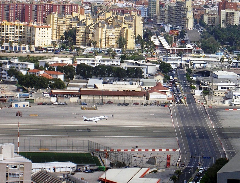 Gibraltar Strange Airport. Where Runway Intersecting a Road - Charismatic Planet