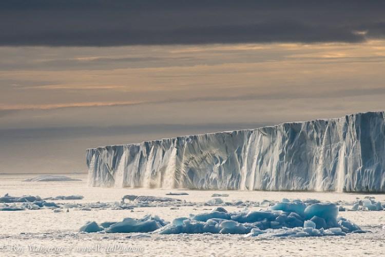 Stunning Glacier Waterfall in Svalbard Norway 16