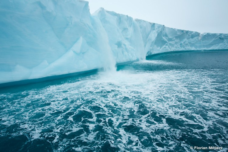 Stunning Glacier Waterfall in Svalbard Norway 17