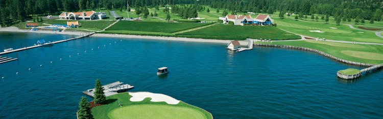 Floating Golf Course at Luxury Coeur d'Alene Resort 9