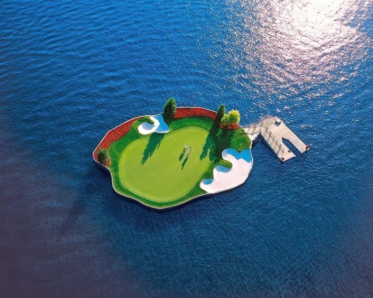 Floating Golf Course at Luxury Coeur d'Alene Resort