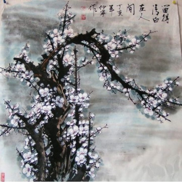 Gorgeous Watercolors Merge Nature with Chinese Calligraphy7