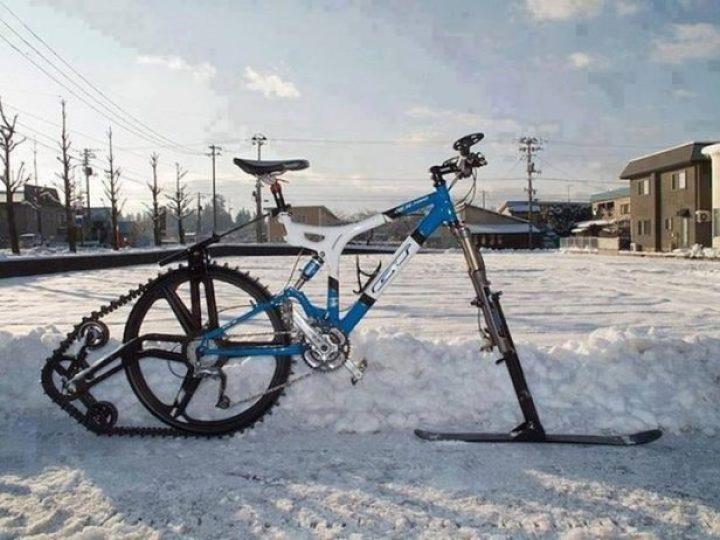 Winter Mountain Bike Conversion