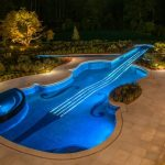 Magnificent Swimming Pool Replica of Violin