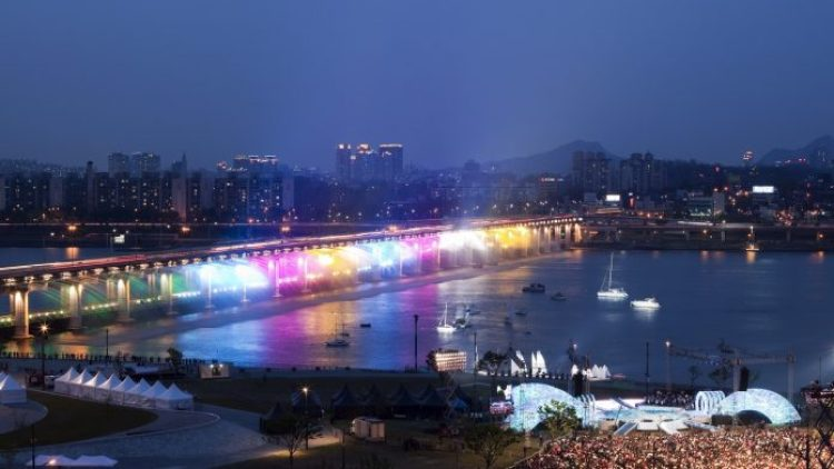 Charismatic Planet Moonlight Rainbow Bridge In Seoul Korea2