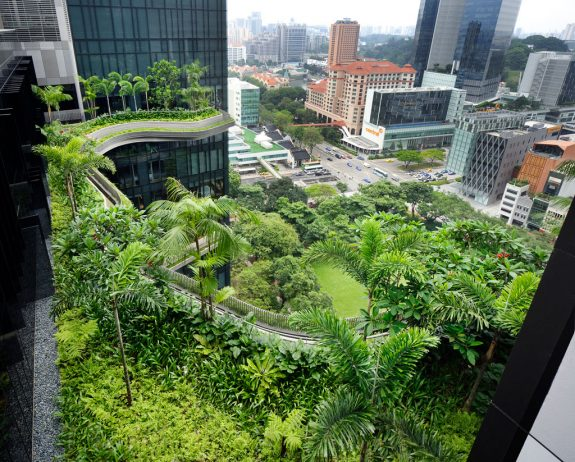 Garden Hotel Singapore ... dazzling pools, planter walls, waterfalls, and  four story high solar