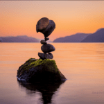 Balancing Stones Seems Defy Gravity