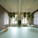 Unique Space-Saving Light Design with Potted Plants