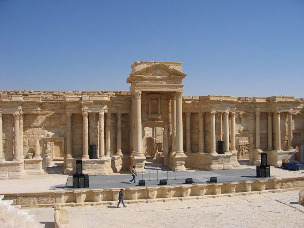 Roman Theater of Palmyra in the Syrian Desert