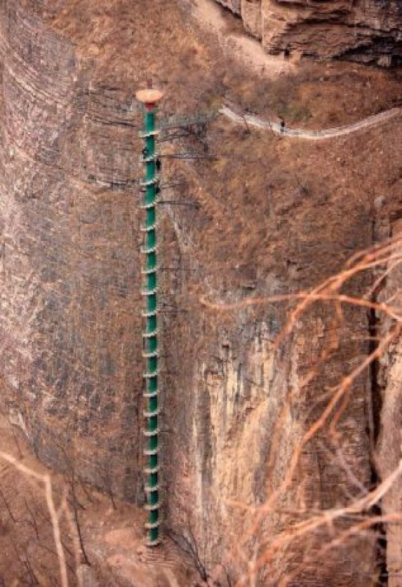 Spiral Staircase in Taihang Mountains, China5