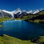 The Blue Gem Lake Bachalpsee of Grindelwald Switzerland