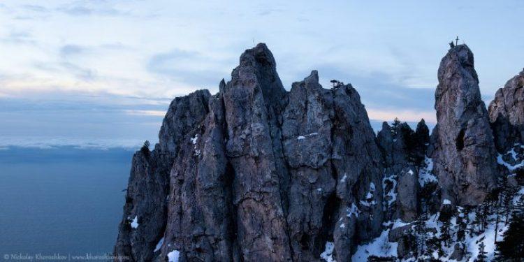 Ai-Petri mountain at dusk