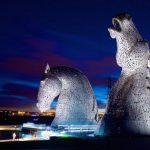 Giant Horse Head Sculptures in Scotland