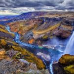 The Magnatic Haifoss Waterfall, Iceland