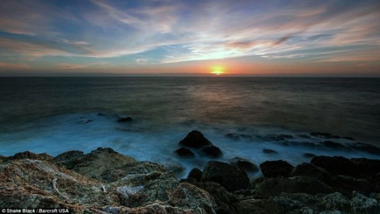 A coastline in Big Sur, California. Mr Black took some 10,000 beautiful images across 32 states
