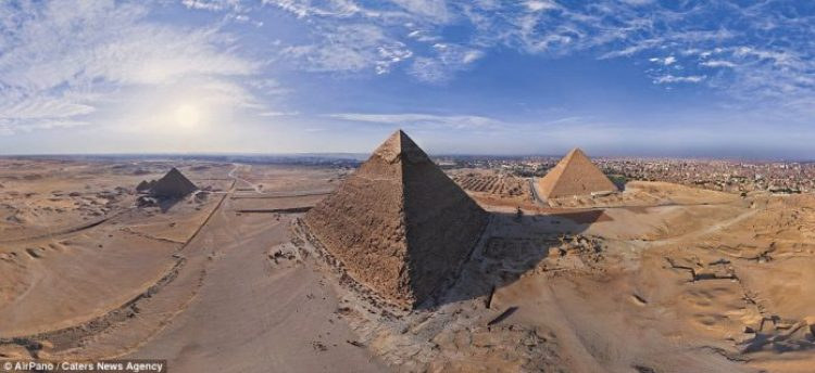 The Pyramids in Egypt made AirPano's 100 Best Places on the Planet list, which the team set out to capture over the years since they started in 2006