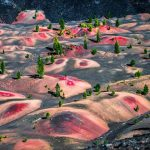 Colorful Dunes of Lassen National Park in Northern California