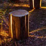 Stunning Illuminated Cracked Log Lamps