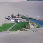 Crescent Lake in the Gobi Desert of China