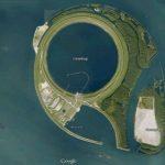 """IJsseloog: """"Eye of IJssel"""", is a Huge Circular Pit in the Middle of Ketelmeer Lake"""